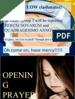 Rerum Novarum and Quadragesimo Anno