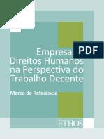 04 Empresas e Direitos Humanos Na Perspectiva Do Trabalho Decente – Marco Referencial