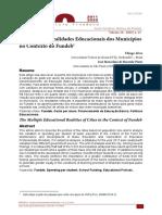 Artigo - As múltiplas realidades educacionais dos municípios no contexto do Fundeb - ALVES e PINTO 2020