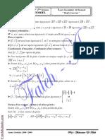 Série d'Exercices Math - Calcul Vectoriel - 2ème Science (2008-2009) Mr Abdessatar El Faleh