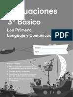 LEO PRIMERO- EVALUACIONES 3 BASICO