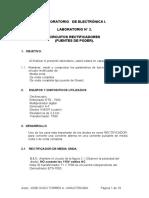 DIODO COMO RECTIFICADOR-INFORME