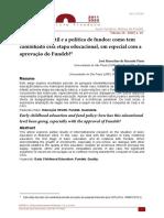 Artigo - Ed Inf e a política de fundos - PINTO e CORREA 2020