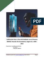 Calificación Paso a Paso del Soldador D1.1- 2015 SMAW  3G