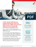 A Dell Latitude 5320 Business Laptop with an Intel Core i5-1145G7 vPro processor delivered better benchmark performance and battery life