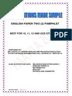 English Pamphlet Grade 12