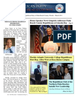Republican Party of Palm Beach County Newsletter, March 2011