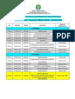 MATRIZ 2019 Horário Disciplinas Obrigatorias 2020-1 Nao Presencial