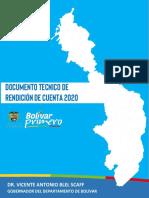 Informe Rendición de Cuentas Bolívar Primero 2020