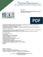 Fiche technique 773050 - Simulateur de processus industriels ASIMA-4 version II, avec fiche 4 mm de sécurité