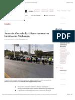 La Jornada - Aumenta afluencia de visitantes en centros turísticos de Michoacán