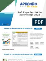 Experiencias de aprendizaje de AEC 2021