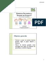 Dinámicas Recreativas y Dominios de Grupos II PDF