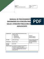 Manual de Procedimientos de Enfermería en Aps 3.0 2021