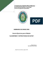 Guia de ejercicios Alg y ED 2008