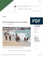 La Jornada - Turistas desafían al Covid-19 en Acapulco