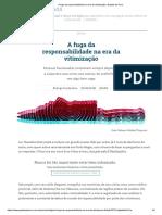 A fuga da responsabilidade na era da vitimização _ Gazeta do Povo