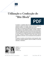 Utilização e Confecção do Bite Block 131