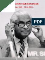 K. Subrahmanyam - Czar of India's Strategic thinking