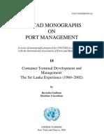 UNCTAD Monographs on Port Management