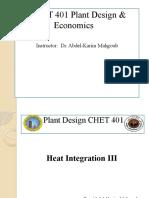 CMET401 Heat Integration III
