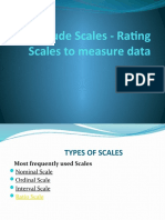 Attitude Scales - Rating Scales to measure data