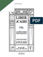 Liber Aash Vel Capricorni Pnevmatici - Sub Figura CCCLXX