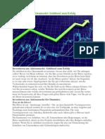 Investieren Am Aktienmarkt