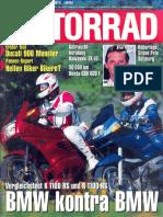 BMW K1100RS Vergleichstest mit R1100RS MOTORRAD 12/1993