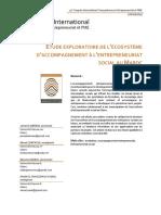 Etude Exploratoire de Lecosysteme Daccom