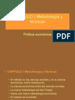 CAPITULO I-POLITICA ECONOMICA