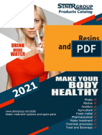 Resins and filtering medias catalog