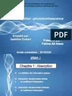 Absorption Et Photoluminiscence