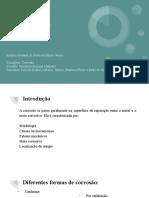 2ª Mini Consultoria Formas de Corrosão