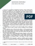 Afonso Arinos - A constituinte instituída