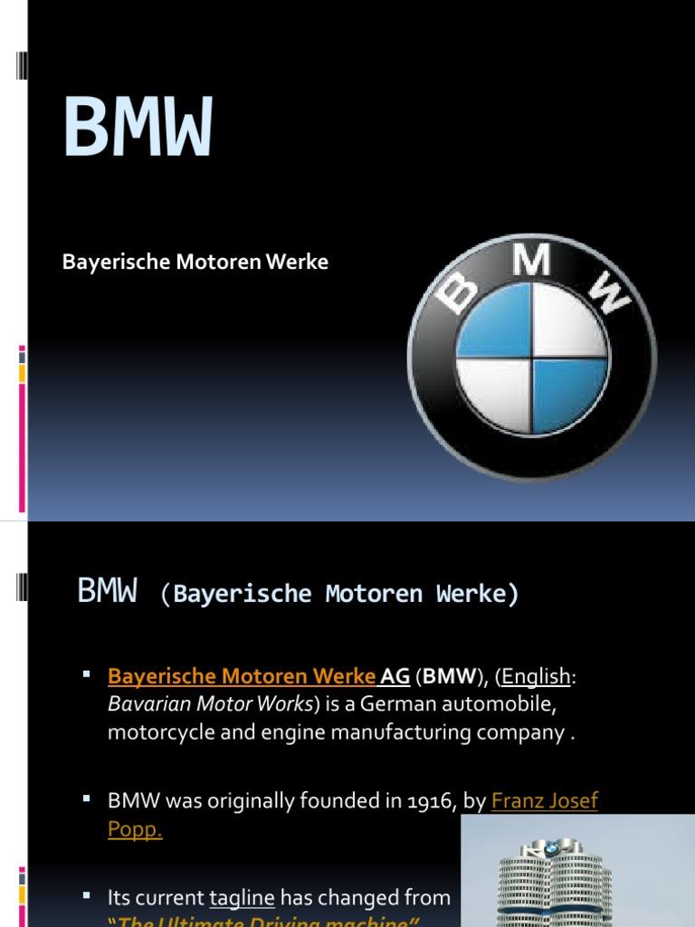 bmw marketing strategy essays