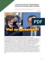 Unfassbar Österreichisches Gericht entblößt Berlins Corona-Politik Verdacht der Verstöße gegen die WHO-Richtlinien