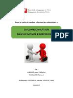 La Communication dans le monde professionnel