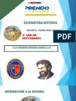 SESION 1 INTRODUCCION A LA HISTORIA 3° PDF DIAPOSITIVAS