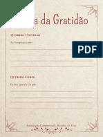 Carta Da Gratidão