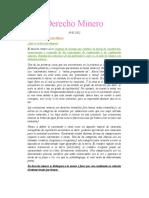 APUNTES CLASES DERECHO MINERO