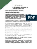 Mensaje de Alejandro García Padilla-6 de marzo-2011