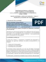 Guia de actividades y Rúbrica de evaluación - Unidad 1 - Tarea 2 - Arquitectura y Ensamble del Computador