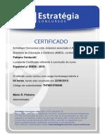 CERTIFICADO - ESPANHOL