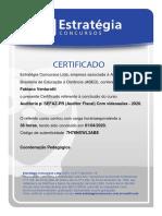 Certificado de Auditoria