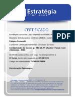 Certificado Contabilidade de Custos