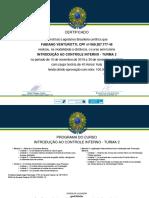 Certificado - Introdução Ao Controle Interno
