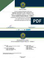 Certificado - Ética e Administração Pública
