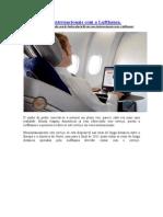 Wi-fi em voos internacionais com a Lufthansa.