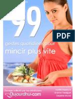 99 Gestes Quotidiens Pour Mincir